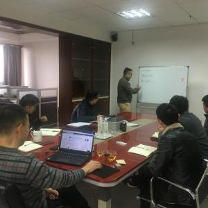 GUSHI sales team are training with teacher JAC