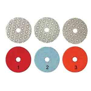 3-step polishing pads