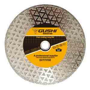 Electroplated diamond saw blade for cutting marble, glass, ceramics