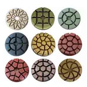 Resin bond polishing pads