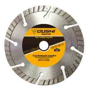 Split turbo diamond blade for cutting masonry,concrete,brick,stone