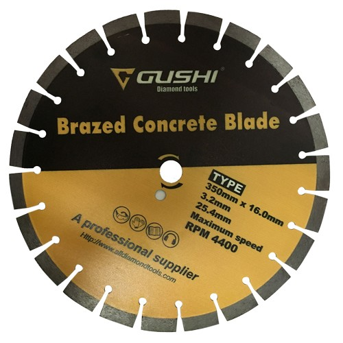 brazed concrete diamond cutting blade